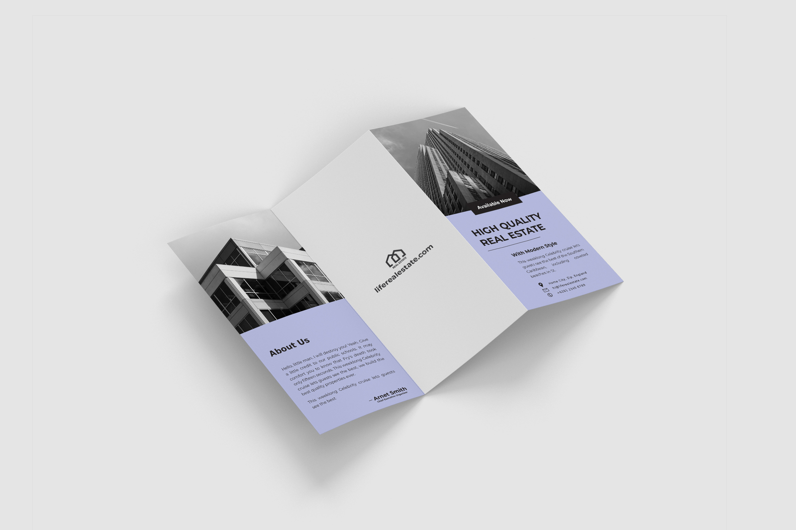 Real Estate Minimalist Trifold Vol. 2