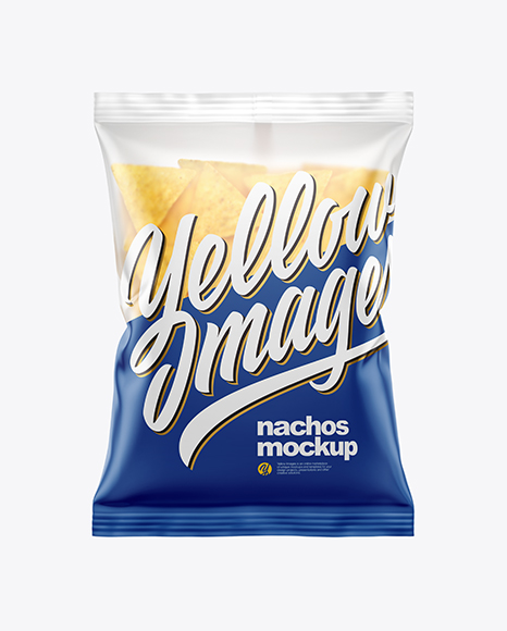 Matte Bag With Nachos Mockup