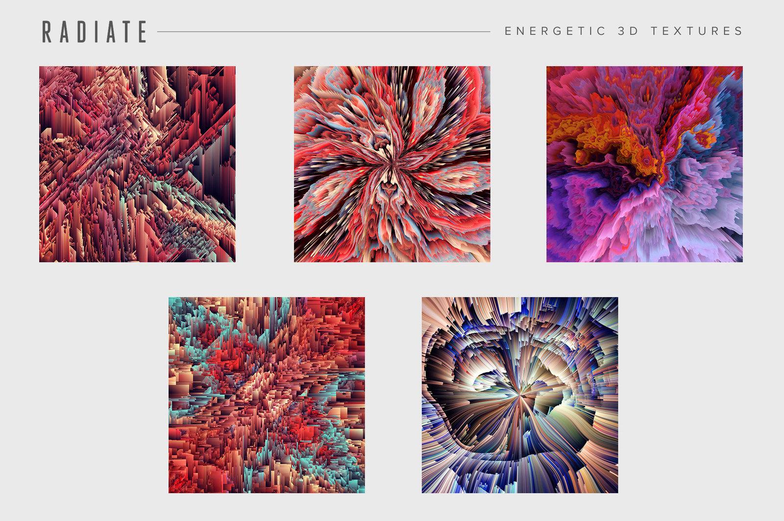 Radiate: Energetic 3D Textures