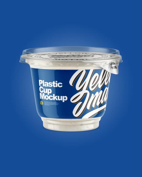 Plastic Cup w/ Sour Cream Mockup