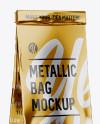 Metallic Bag With Window Mockup - Half Side View