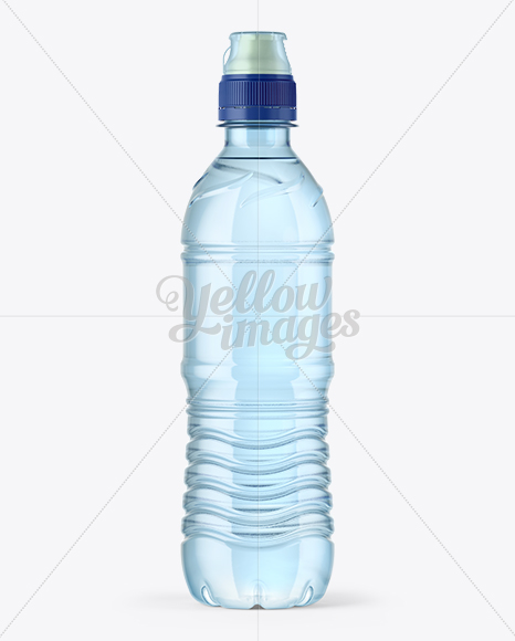 Download 500ml Blue Bottle With Sport Cap Mockup In Bottle Mockups On Yellow Images Object Mockups PSD Mockup Templates