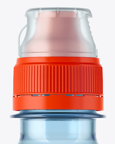 500ml Blue Bottle with Sport Cap Mockup