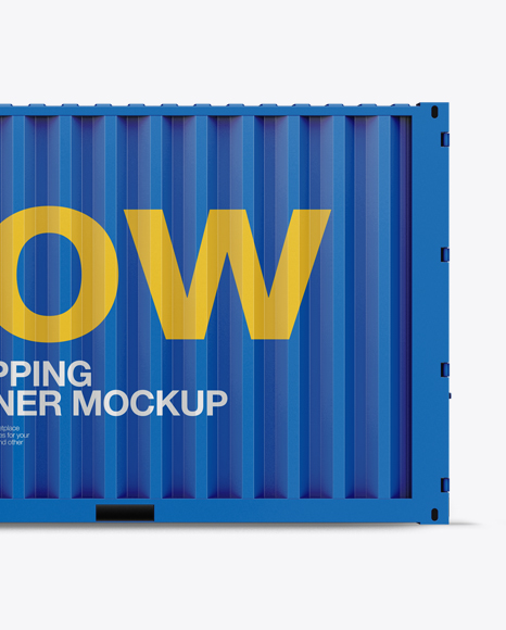 20F Shipping Container Mockup - Front View