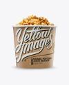Large Kraft Caramel Popcorn Bucket Mockup - Eye-Level Shot