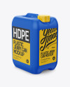 10L HDPE Jerry Can Mockup - Halfside View (High-Angle Shot)