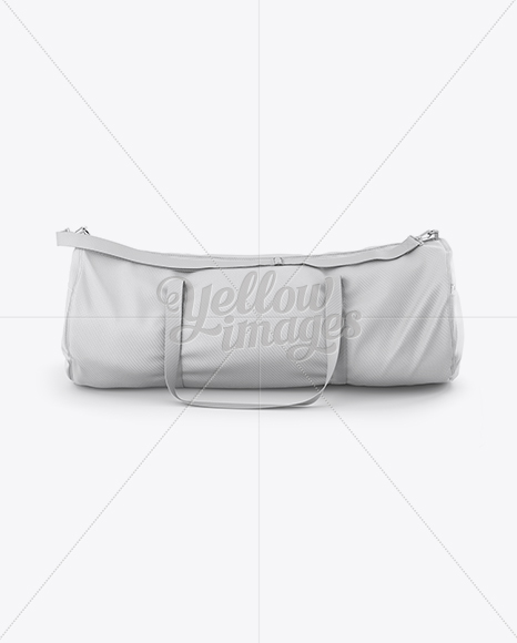 Duffle Bag Mockup Front View In Apparel Mockups On Yellow