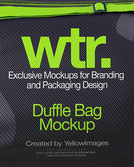 Duffle Bag Mockup Front View In Apparel Mockups On Yellow Images