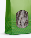 Paper Bag With Window Mockup - Half Side View