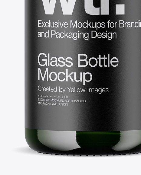 Download Green Bottle Mockup In Bottle Mockups On Yellow Images Object Mockups