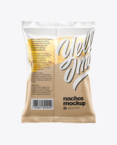 Bag With Nachos Mockup