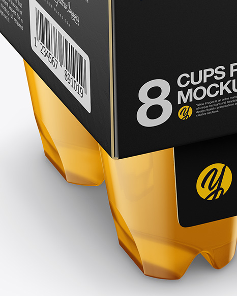 8 Cups w/ Jelly Pack Mockup