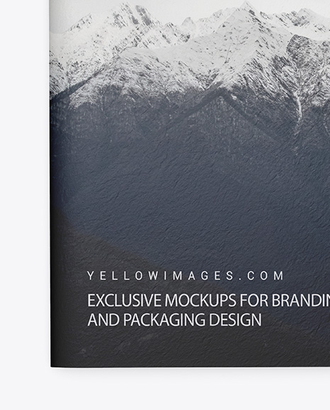 Download Textured A4 Magazine Mockup In Stationery Mockups On Yellow Images Object Mockups PSD Mockup Templates