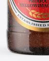 Amber Beer Bottle With Condensation Mockup