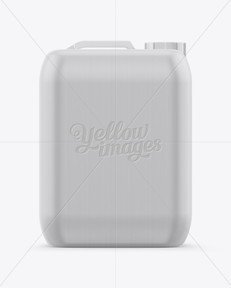10L HDPE Jerry Can Mockup - Front & Side View (Eye-Level Shot)