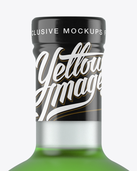 Frosted Glass Absinthe Bottle Mockup