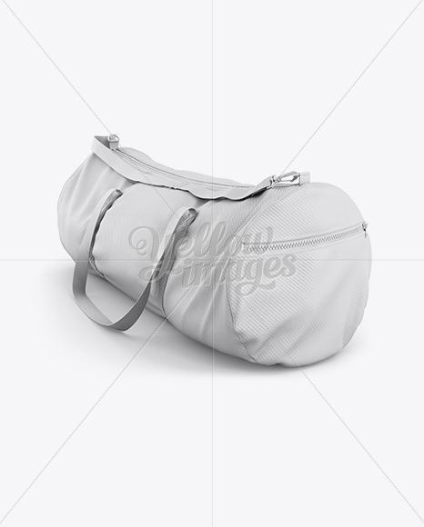 Duffle Bag Mockup Halfside View In Apparel Mockups On Yellow