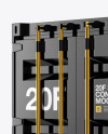 20F Metallic Shipping Container Mockup - Halfside View