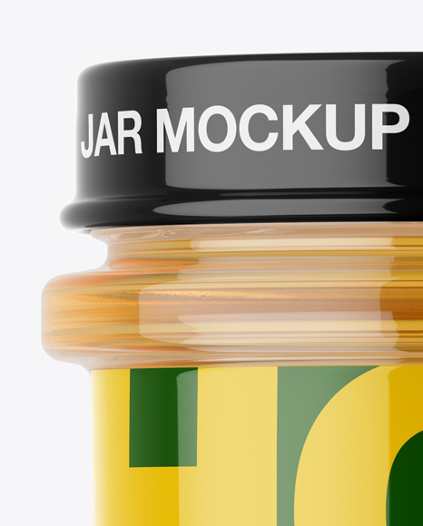 Download Pure Honey Jar Mockup Front View In Jar Mockups On Yellow Images Object Mockups PSD Mockup Templates
