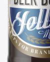 40oz Clear Glass Bottle w/ Dark Irish Beer Mockup