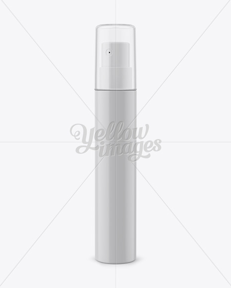 Plastic Spray Bottle With Clear Overсap Mockup