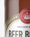 40oz Amber Glass Bottle with Light Beer Mockup