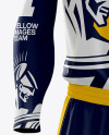 Men's Full Basketball Kit with V-Neck Jersey Mockup (Front View)