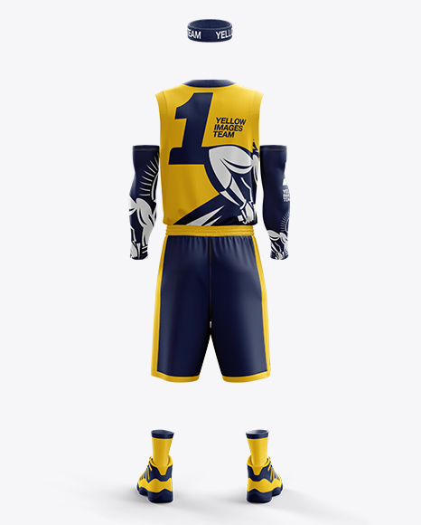 Download Mens Full Ice Hockey Kit With Stick Mockup Back View Yellowimages