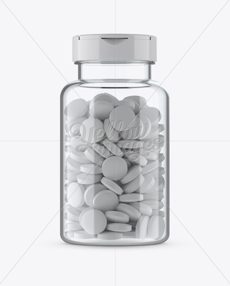 Download Clear Pill Bottle Mockup Front View In Bottle Mockups On Yellow Images Object Mockups PSD Mockup Templates