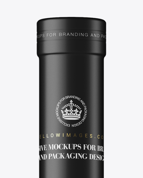 Glass Bottle with Pink Wine Mockup - Front View