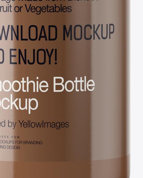 Cacao Smoothie Bottle Mockup