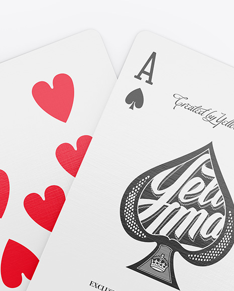 Two Playing Cards Mockup