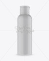 Matte Plastic Bottle Mockup - Front View
