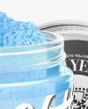 Open Cosmetic Jar with Scrub Mockup - Halfside