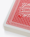 Deck of 52 Playing Cards Mockup - Top View