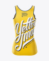 Womens Tank Top Premium Mockup - Back View