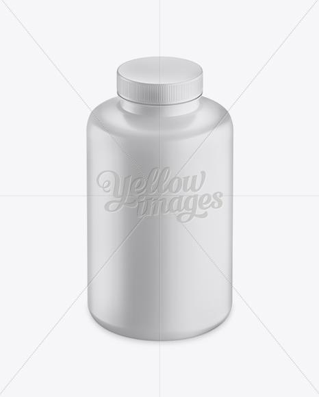 Matte Plastic Bottle Mockup - Front View (High-Angle Shot)