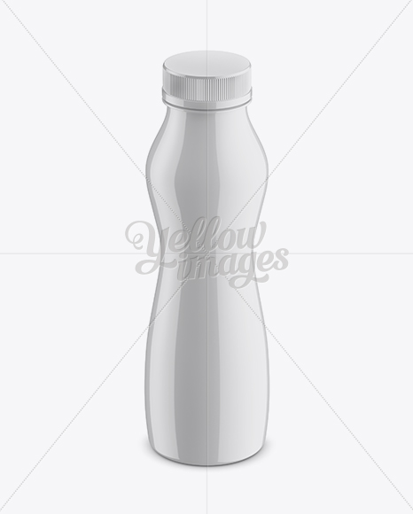 Download Glossy Plastic Bottle Mockup Front View High Angle Shot In Bottle Mockups On Yellow Images Object Mockups PSD Mockup Templates