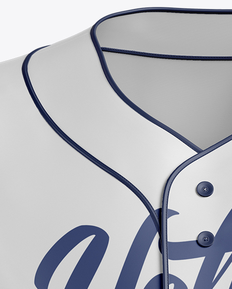 Men's Baseball Jersey Mockup - Front View