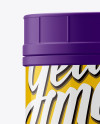 Matte Plastic Jar with Glossy Label Mockup - Front View