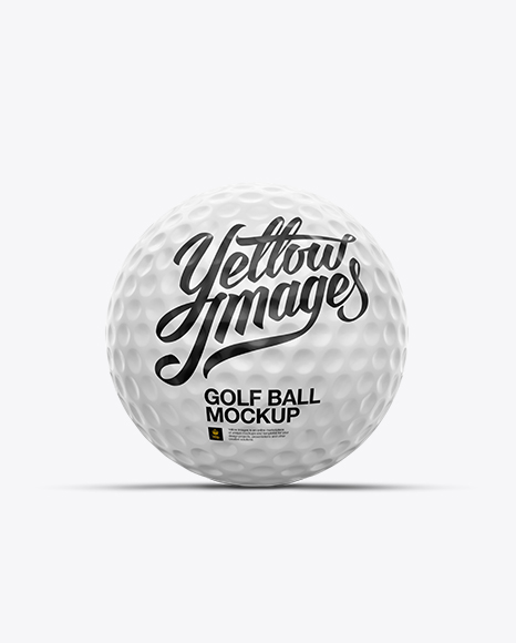 Glossy Golf Ball Mockup - Front View