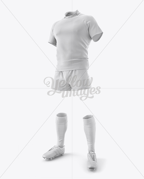 Men's Full Rugby Kit HQ Mockup - Halfside View