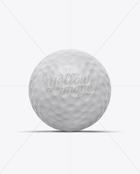 Matte Golf Ball Mockup - Front View