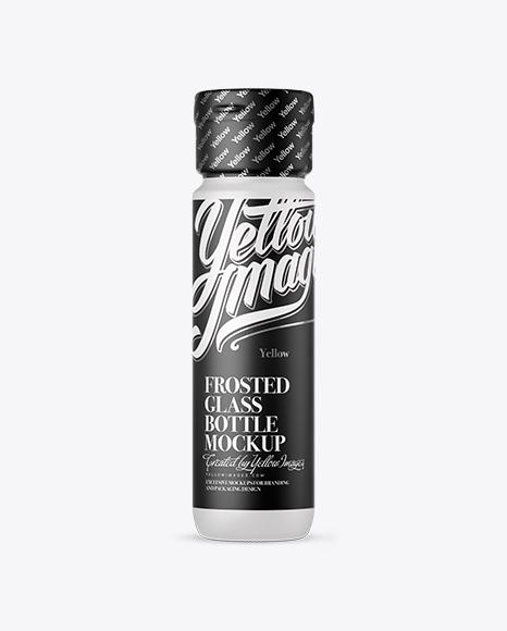 Frosted Glass Liqueur Bottle Mockup