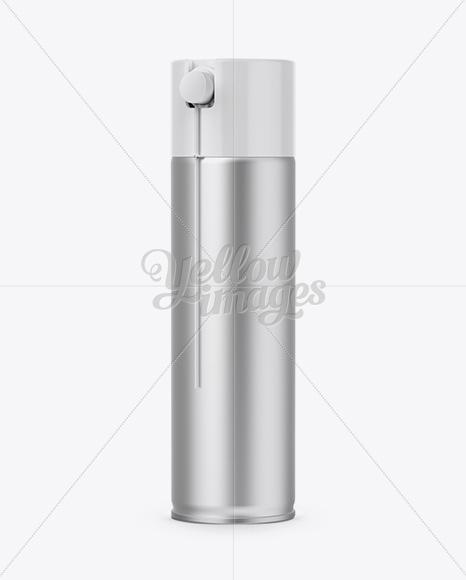 Aluminium Spray Can Mockup - Front View