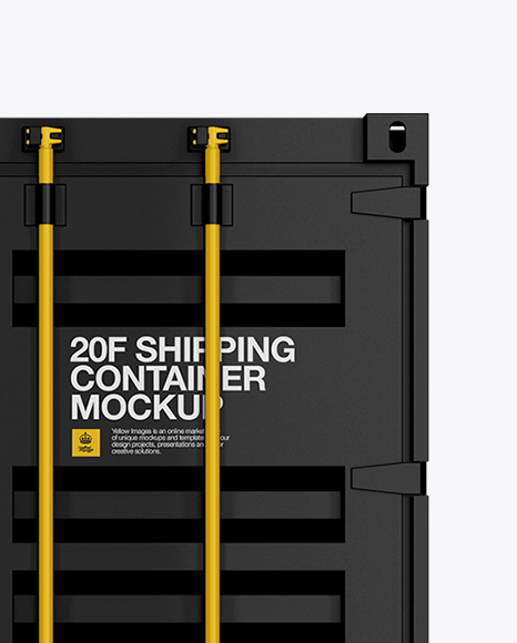 20F Shipping Container Mockup - Side View