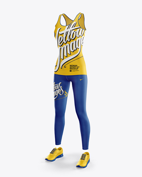 Download Fitness Kit Mockup Front Half Side View Yellowimages