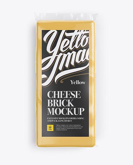 Cheese Brick Mockup - Top View