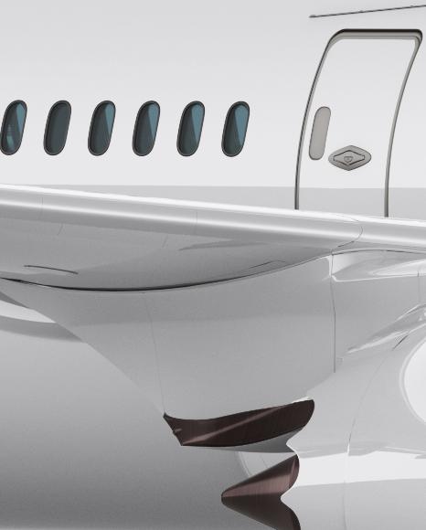 Boeing 787 Dreamliner Mockup - Front 3/4 View