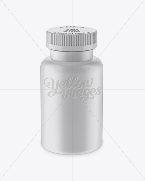 Matte Pill Bottle Mockup (High-Angle Shot)